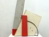 Schrägschnitt, 2009, Holz und Metall, 160 x 100 x 40 cm