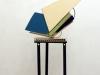 Kippe, 2009, Metall und Holz, 200 x 60 x 23 cm